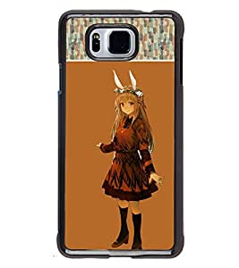 Fuson 2D Printed Girly Designer back case cover for Samsung Galaxy Alpha - D4141