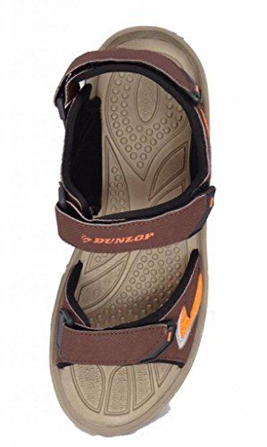 Dunlop DMP559 Sports Herren Walking/Trekking Touch Close & Sandalen Braun / Orange