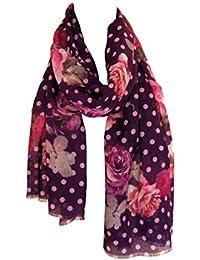Echarpe étole chale en laine et cachemire chaude et douce imprimé floral