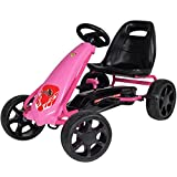 Rip-X NexGen Pedal Racer Go Kart Ride On Car Toy with Adjustable Seat and Racing Wheels - Pink