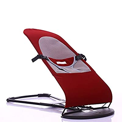GYFY Comforting baby rocking chair mother good helper environmentally friendly material foldable carrying convenient free adjustment baby cradle seat,Red,cottonsurface