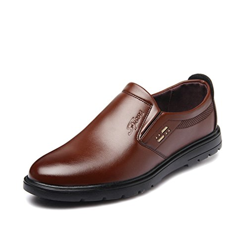Hommes Chaussures en Microfibre Bout Pointu Basse Plat Léger Respirent Loisir Derby Business Souliers Brun