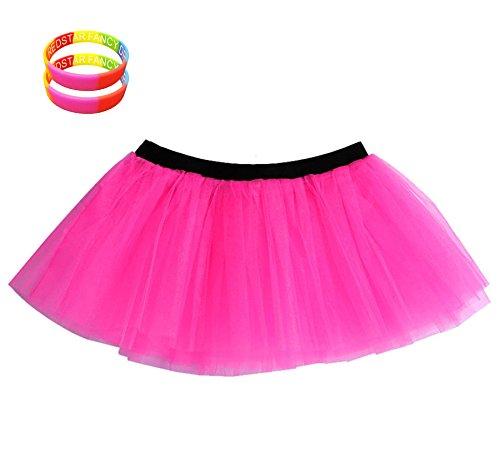 Neon UV Skirt with Rainbow Bracelets - Many Colours - Sizes 8-22