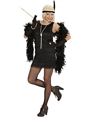 Deluxe Black Flapper Costume Medium for 20s 30s Moll Bugsy Fancy (Roaring 20s Kostüm)
