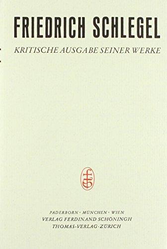 Friedrich Schlegel - Kritische Ausgabe seiner Werke - Abteilung I: Friedrich Schlegel - Kritische Ausgabe seiner Werke: Studien des klassischen Altertums: Bd 1