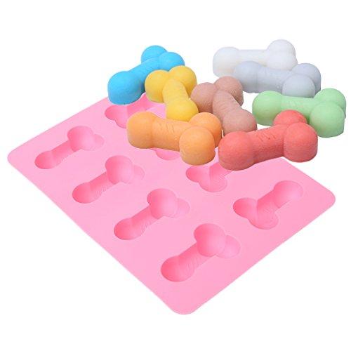Yeptop Silikon-Eiswürfelform mit 8 Mulden, Pink -