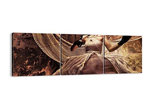 Bild auf Leinwand - Leinwandbilder - DREI Teile - Breite: 150cm, Höhe: 50cm - Bildnummer 0217 - dreiteilig - mehrteilig - zum Aufhängen bereit - Bilder - Kunstdruck - CA150x50-0217 (Schauspielerin Halloween-kostüme Film)