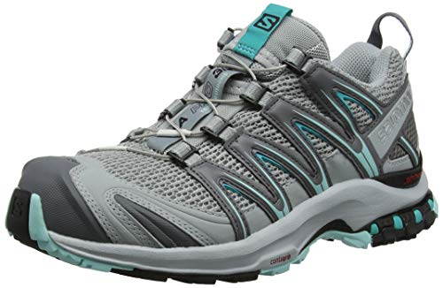 Salomon XA PRO 3D W, Scarpe da Trail Running Donna, Grigio (Quarry/Pearl Aruba Blue 000), 38 EU