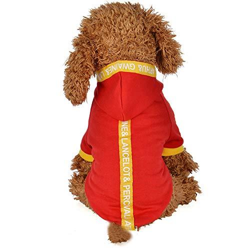 Personalisierte Stricken Hut (EUZeo Lovely Hundebekleidung Haustier Hund Katze Bandjacke mit Hut Hundekostümen Haustier Kleidung Cute Hündchen Hoodies Haustierpullover Kleiner Hund Hundeshirts Sweatshirt)