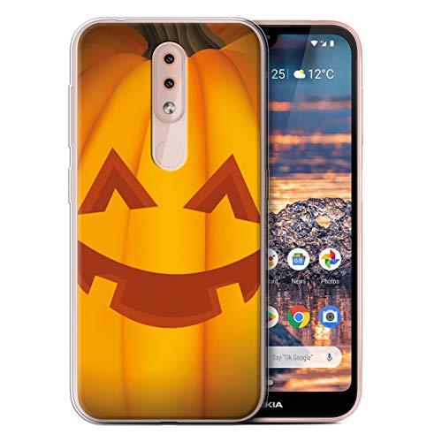 eSwish Gel TPU Hülle/Case für Nokia 4.2 2019 / Glücklich Muster/Halloween Kürbis Kollektion