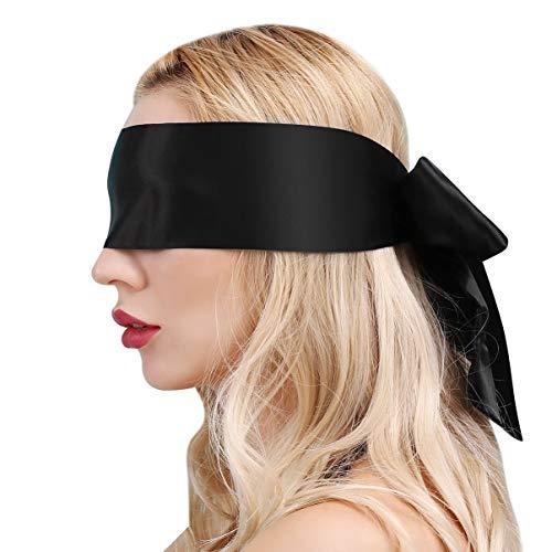 ZGHD Schwarz Augenmaske Maske Augenbinde Fetisch Bondage Sex Spielzeug für Paar, (2PCS)