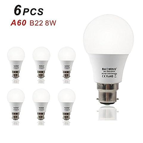 Baoming LED B22 Bayonet Cap Light Bulb 8W ( 60W