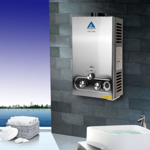 Ridgeyard 8L LPG Propan Gas Tankless Instant-Heißwasserbereiter mit Duschkopf
