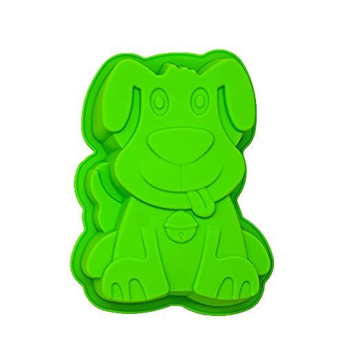 KeepingcooX Pup Puppy Dog Silikon Kuchen Form zum Backen Kuchen, Pfanne | Muffin Tassen handgefertigte Seife Formen Biscuit | Schokolade Eis Würfel Tablett DIY Form, 20 x 4 x 16,5 cm -