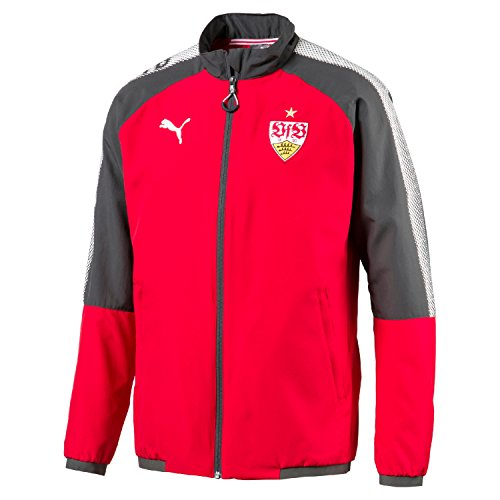 Puma Erwachsene Vfb Stuttgart Wov. Jacket w. Sponsor L. Jacke, Ribbon Red-Dark Shadow, L