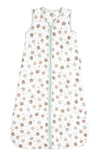 Schlummersack warm wattierter Babyschlafsack für den Winter 3.5 Tog - Eule - 6-18 Monate/90 cm