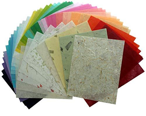 100 Mulberry Paper Sheet Design Craft Hand Made Art Tissue Japan Washi Design Craft Art Origami Suppliers Card Making