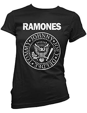 LaMAGLIERIA Shirt Donna Ramones - Maglietta Punk Rock 100% Cotone