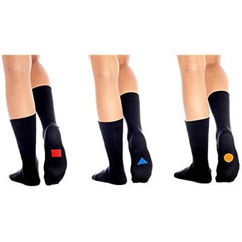 3 Parejas Symbolsocks Classic Calcetines, Color Negro, Hombres y Mujeres (unisex), varios Diseños