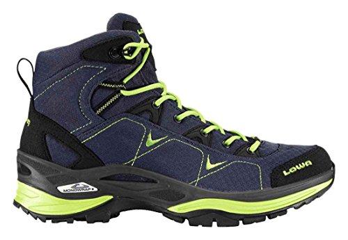 Lowa Ferrox Gtx Mid Ws, Stivali da Escursionismo Donna Blu (jeans, limone)