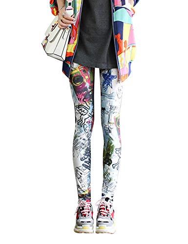 Jueshanzj - Leggings Camuflaje Estampados Mujer Ángel
