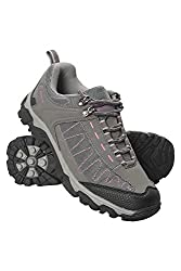 Mountain Warehouse Skyline Wanderschuhe für Damen - Synthetik, robuste Damenstiefel mit Grip, Netzfutter, Schutz im Fersen- und Zehenbereich - Zum Laufen und Wandern Grau 39 EU