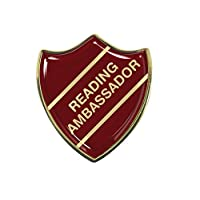 Capricornone Reading Ambassador Gel Domed School Shield Badge - Burgundy