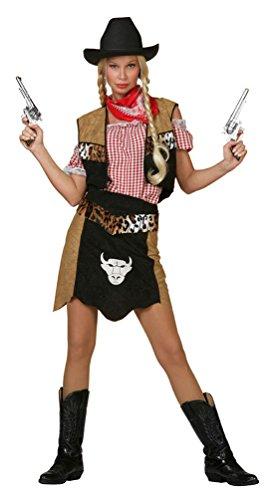 Karneval-Klamotten Cowboy Cowgirl Kostüm Damen Frauen Western-Kostüm Rock inkl. Weste Größe 46