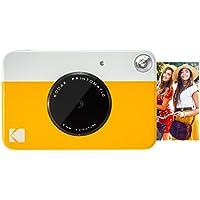 """Kodak Printomatic - Cámara de Impresión Instantánea, Imprime en Papel ZINK 2x3"""" con Respaldo Adhesivo - Color Amarillo"""