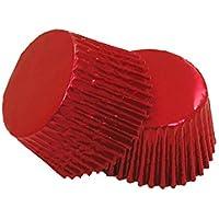 12 excelente calidad para magdalenas/Cupcake Foil casos por Holly Cupcakes: Rojo