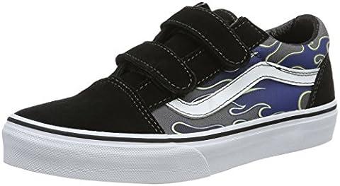 Vans Old Skool V, Sneakers Basses mixte enfant, Multicolore (Glow Flame), 32 EU