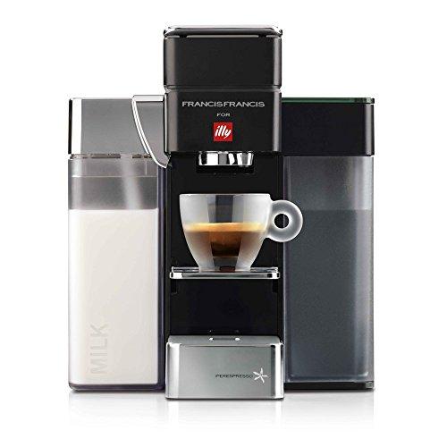 illy FrancisFrancis! Y5 Milk Iperespresso Kapselmaschine  Espresso+Coffee, schwarz