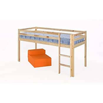Fun Shorty Mid Sleeper Bed Frame with Blue Tent -: Amazon.co.uk ...
