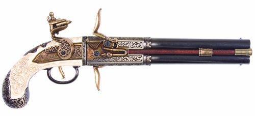 Preisvergleich Produktbild Denix Pistole mit drehbarem Doppellauf – Spielzeugwaffe