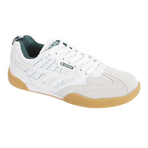 Hi-Tec Herren Squash-Schuhe/Turnschuhe, Abriebfeste Sohle (41 EUR/7 UK) (Weiß)
