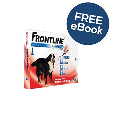 Frontline Spot On For Extra Large Dogs - 3 Pipettes - INCLUDES FREE EXCLUSIVE PETWELL® FLEA AND TICK E BOOK