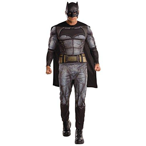 Amakando DC Comics Dawn of Justice - STD (48 - 52) - Fledermaus Herrenkostüm Marvel Heldenkostüm Männer Superheld Kostüm Herren Superhero Outfit Erwachsene Batman Superhelden Kostüm