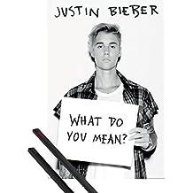 Póster + Soporte: Justin Bieber Póster (91x61 cm) Purpose, What Do You Mean? Y 1 Lote De 2 Varillas Negras 1art1®