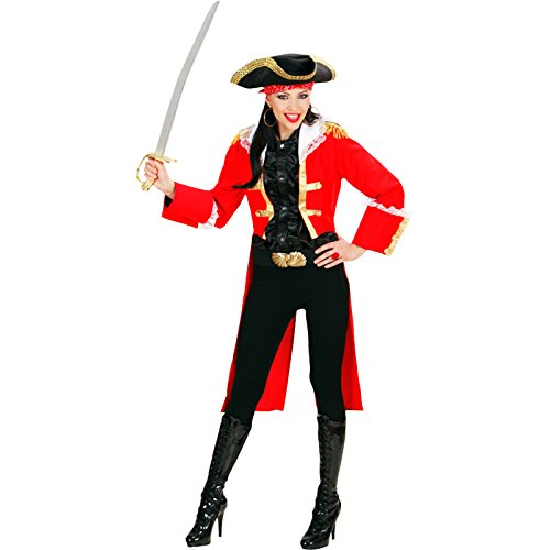 Red Heavy Fabric Pirate Captain Woman (Female Pirate Kostüme Captain)