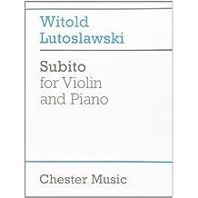 Subito For Violin & Piano