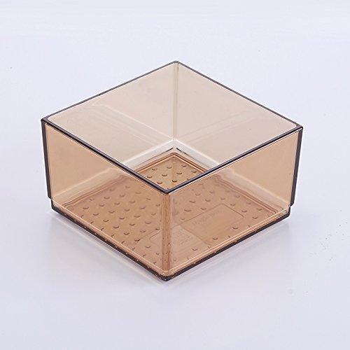Organisateur/diviseurs tiroir extensible pour couverts, Boîte de rangement tiroirs Conseil Partition Partition fort Cuisine art de la table de tri en plastique Boîte de tri de l'armoire,10*10cm