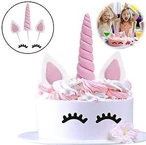 Decoración de unicornio para tartas