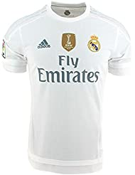 f6b4dbbb14425 adidas 1ª Equipación Real Madrid CF 2015 2016 - Camiseta oficial con la  insignia de