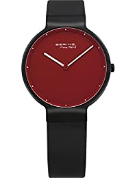 BERING Time Damen-Armbanduhr Max René UltraSlim Analog Quarz Kunststoffband 12631-823