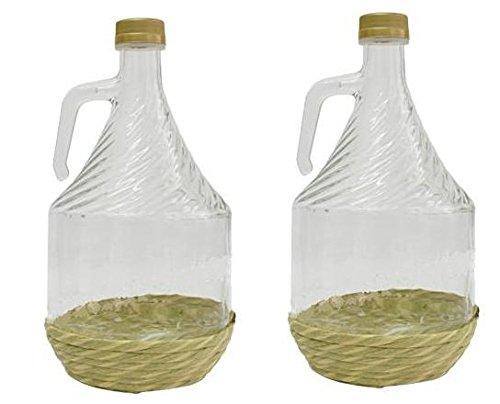 2er SET GLASBALLON GÄRBALLON FLASCHE GLASFLASCHE WEINBALLON GLAS BALLON 2L BDO2Z