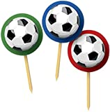 20 Partypicker Fussballparty 11cm lang