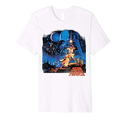 Star Wars A New Hope Classic Vintage Poster T-Shirt C2 (Classic Wars-t-shirts Star)