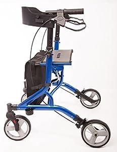 5.45kg Ultra Lightweight Aluminium Rollator In Blue