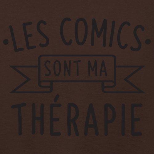 Les comics sont ma thérapie - Femme T-Shirt - 14 couleur Marron Foncé