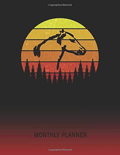 Monthly Planner: Molumen Horse Head | 2 Year Planning for Jan 2020 to Dec 2021 | Retro Vintage Sunset Cover | January 20 - December 21 | Planning ... | Plan Days, Set Goals & Get Stuff Done -